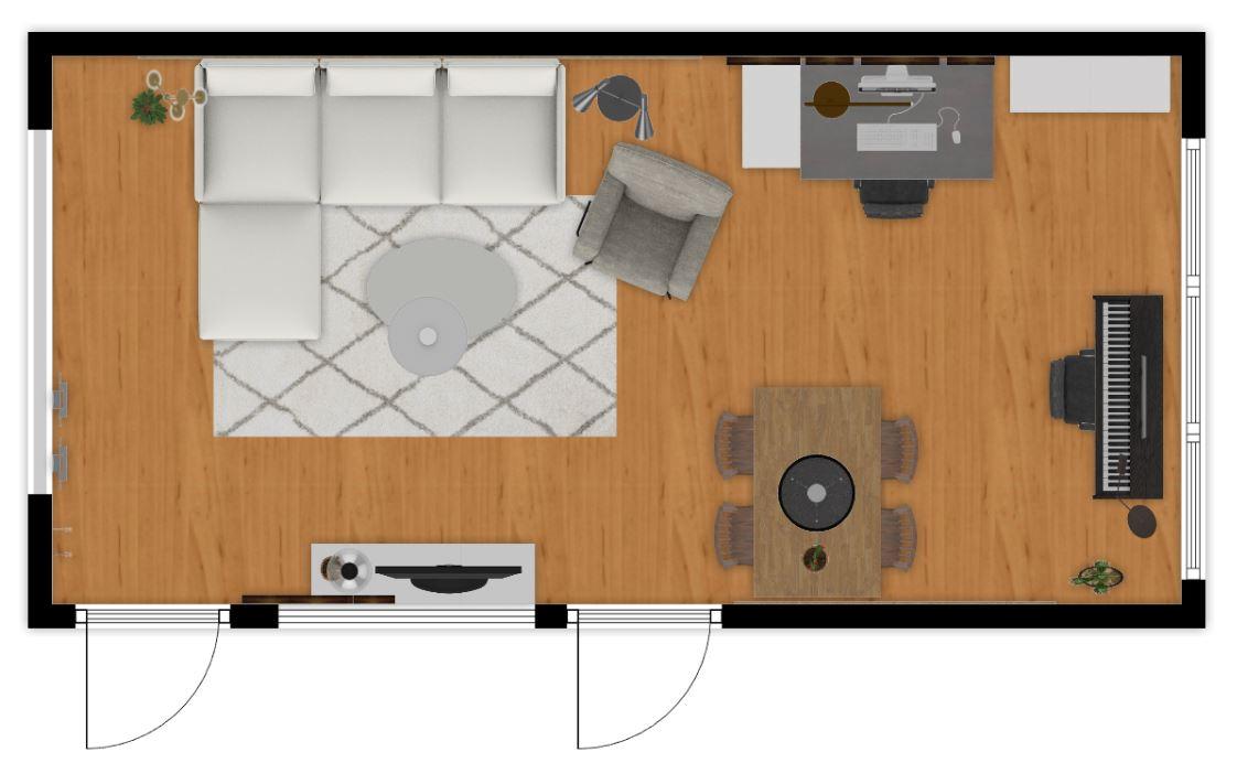 indretning bolig grundplan